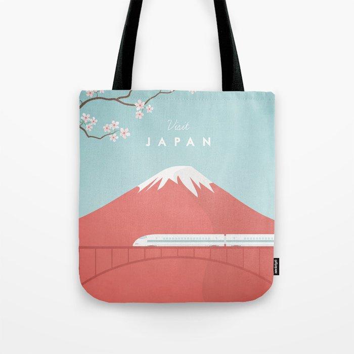 Vintage Japan Travel Poster Tote Bag