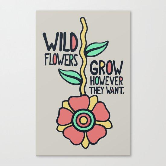 W/LDFLOWER Canvas Print