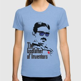 Tesla the Godfather of Inventors T-shirt