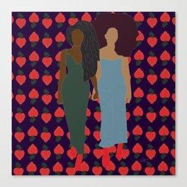 Strawberry Bawse Babes Canvas Print