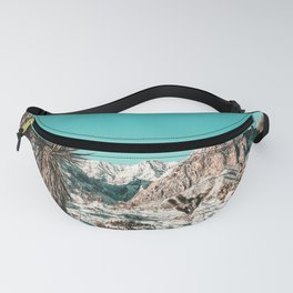 Vintage Lovers Cacti // Red Rock Canyon Mojave Nature Plants and Snow Desert in the Winter Fanny Pack
