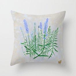 Lavender Plant Grows in the Garden Throw Pillow