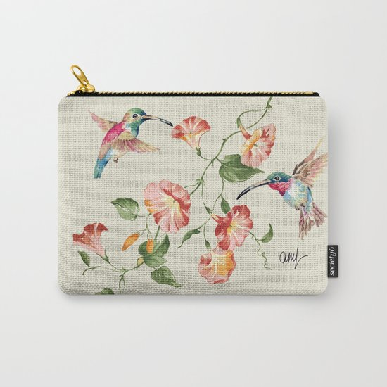 hummingbirds & morning glories Carry-All Pouch