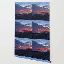 Magic Summer Sunset on the West Coast of DENMARK Wallpaper