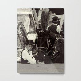 Horse and Driver Metal Print