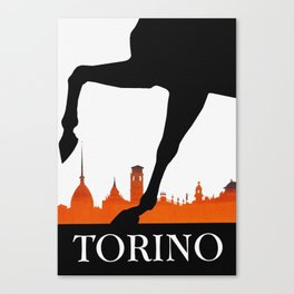 Vintage Torino or Turin Italy Travel Poster Canvas Print