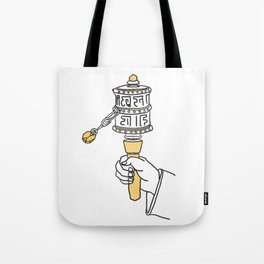 Tibetian prayer wheel Tote Bag