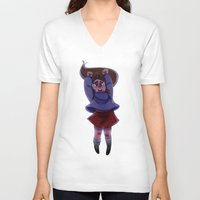 gravity falls V-neck T-shirts featuring Gravity Falls- Floating by Welcoming-Meg