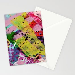 Nordic art, abstract print, abstract painting, abstract art print, abstract wall art, pink and blue Stationery Cards