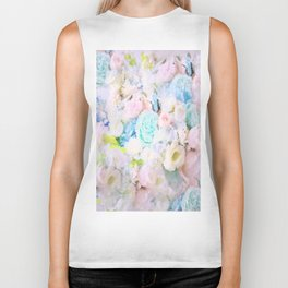 ROSE WHISPERER FADE OUT MOSAIC IMPRESSION Biker Tank