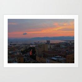 Cagliari sunset Art Print