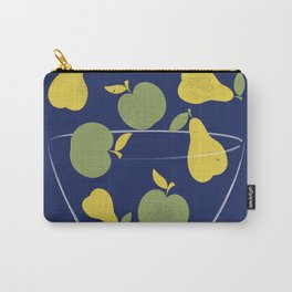 Apples and Peers blue Carry-All Pouch