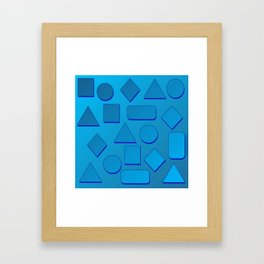 0807 Play with gradient and forms 2 ... Framed Art Print