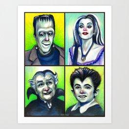 Munster Family Art Print