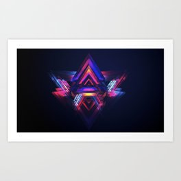 Occasionally Colored Life Art Print