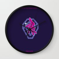 jojo Wall Clocks featuring SHINE ON YOU CRAZY DIAMOND - PINK FLOYD - JOJO by Mirco Greselin