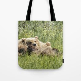 Counting Salmon - Bear Cubs, No. 3 Tote Bag