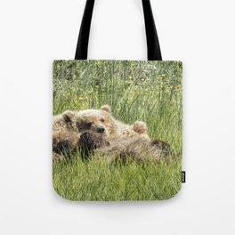 Counting Salmon - Bear Cubs, No. 3 Tote Bag