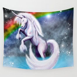 Unicorn and Sparkles - Night Wall Tapestry