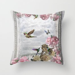 Vintage Artwork Throw Pillow