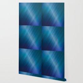 Jelly Bean & Blue Shades Metallic Pattern Wallpaper