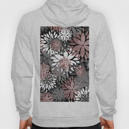 Pretty rose gold floral illustration pattern Hoody