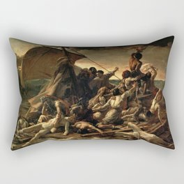 Jean Louis Theodore Gericault's The Raft of the Medusa Rectangular Pillow