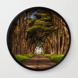 Cypress Tree Tunnel Wall Clock