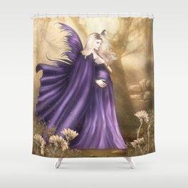 Pregnant Fairy Shower Curtain