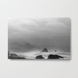 Storm in Canon Beach  Metal Print
