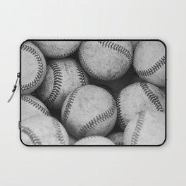 Baseballs Black & White Graphic Illustration Design Laptop Sleeve