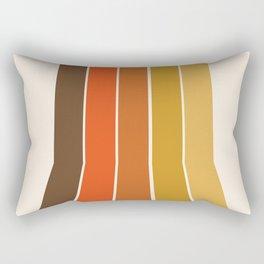Righteous - 70s style throwback rainbow art 1970s minimalist art Rectangular Pillow