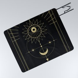 Le Soleil or The Sun Tarot Picnic Blanket
