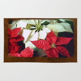 Mixed Color Poinsettias 2 Blank P3F0 Rug