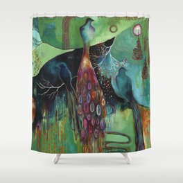 """Light Trio"" Original Painting by Flora Bowley Shower Curtain"