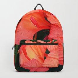 Firecracker Red Jungle Tropical Flower Backpack