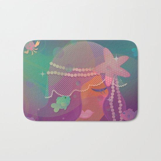 Mermaid II - Bohemian Starfish Hairpiece Bath Mat