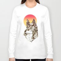 kitsune Long Sleeve T-shirts featuring Kitsune by South Spire Seven