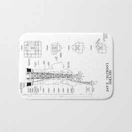 Statue of Liberty Structural Schematic Bath Mat