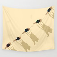 camel Wall Tapestries featuring Camel caravan by Rceeh