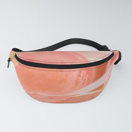 Shapes and Layers no.22 - Pink, coral, peach, orange abstract painting Fanny Pack