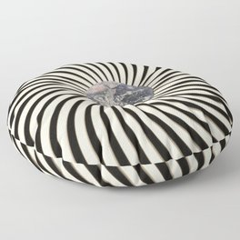 Spinning Earth Floor Pillow