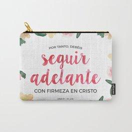 Seguir Adelante {Flores en Acuarela} Carry-All Pouch