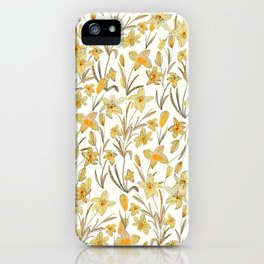 Yellow Floral Pattern iPhone Case