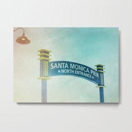 Santa Monica Pier Entrance Sign Metal Print
