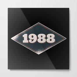 Vintage 1988 Design Metal Print