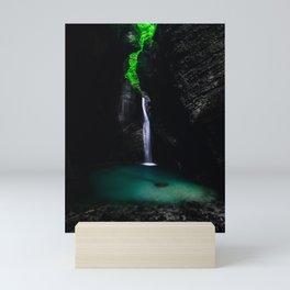 Waterfall Kozjak in all its glory Mini Art Print