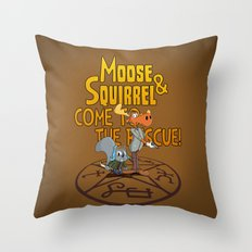 Moose & Squirrel Come to the Rescue! Throw Pillow