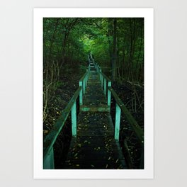 Forest Staircase (up) Art Print