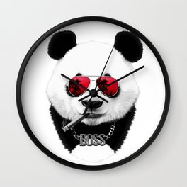 Panda Boss Wall Clock